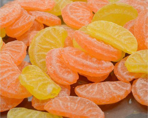 Tranche orange/citron - Confiserie - Vichy Hmmm les bonnes petites tranches sucrées acidulées ... Flw