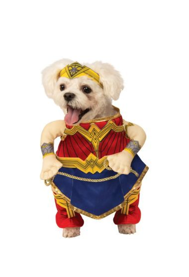 Brand New Pet Costume Walking Wonder Woman Justice League Dog