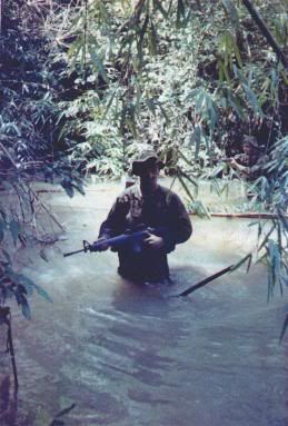 Vietnam War LRRP (Long-range reconnaissance patrol) soldier.