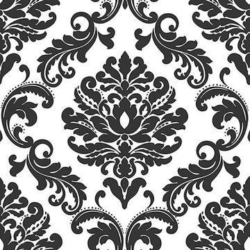 Ariel Black And White Damask Peel And Stick Wallpaper Tapiz Blanco Papel Tapiz Damasco Papel Tapiz