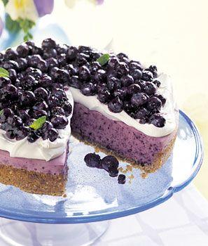No-Bake Blueberry Cheesecake with Graham Cracker Crust