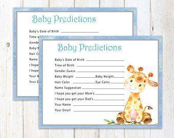 Jungle prediction, safari predictions, baby statistics game