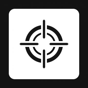Crosshair Reticle Icon Simple Style Style Icons Simple Icons Target Png And Vector With Transparent Background For Free Download Simple Icon Icon Simple Style