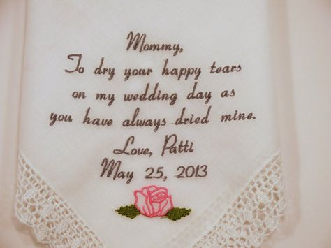 Custom Printed Hankie Mother In Law Handkerchief Wedding Thank you for trusting me  with a piece of your heart.-1014B