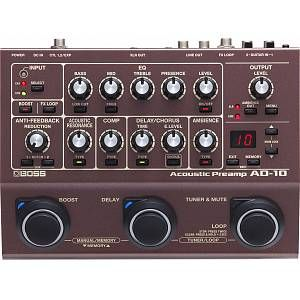 Buy The Boss Ad 10 Acoustic Preamp Acoustic Guitar Bass Guitars For Sale Acoustic