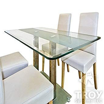 Dining Room Tables Covers Beautiful Rectangle Glass Table Top 3 8 Inch Thick Bevel Polished Edge Tempered Meja Kopi