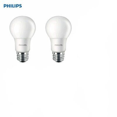 Philips 10 Watt 75 Watt Equivalent A19 Led Non Dimmable Light Bulb Daylight 5000k E26 Medium Standard Base Dimmable Light Bulbs Light Bulb Bulb