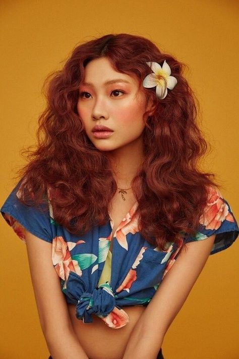romantic red curls hair ideas
