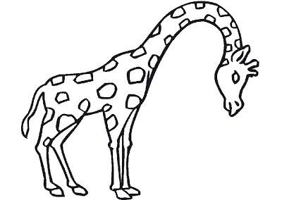 Jirafas Para Colorear Dibujos Coloreados Para Imprimir Y Gifs Animados Animales Terrestres Para Colorear