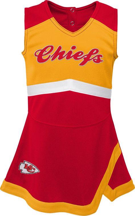1a97b9237 NFL Team Apparel Toddler Kansas City Chiefs Cheer Jumper Dress ...
