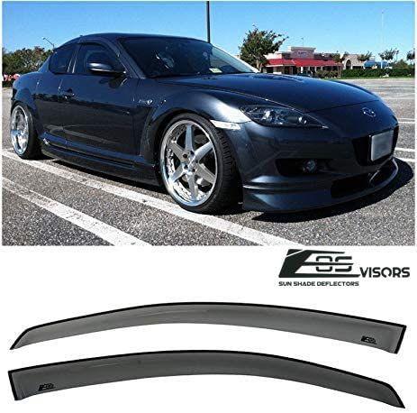 Jdm Smoke Tinted Side Vents Sun Shade Rain Visors For 03 12 Mazda Rx 8 Se3p Rx8 Mazda Jdm Visors