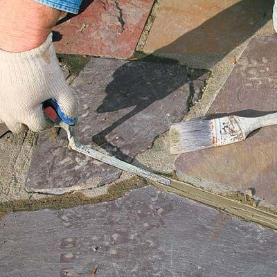 how to repair stone walkway mortar 정