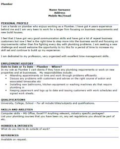 Plumber Resume Business Development Manager Resume  Resume  Job  Pinterest