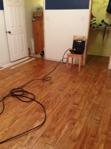 This floor is PLYWOOD! The SawDust Girl is at it again!