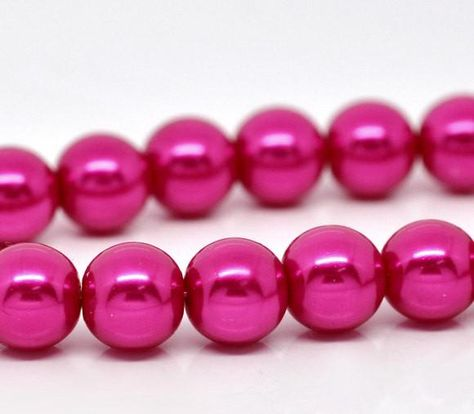 3mm PURPLE GRAPE Round Glass Pearl Beads double strand about 270 beads bgl1604