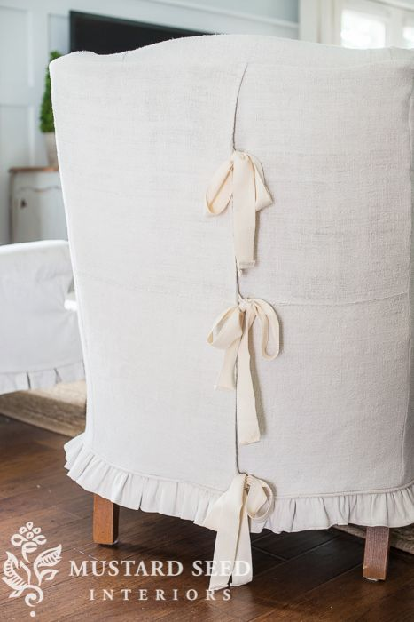 wing chair slipcovers | miss mustard seed