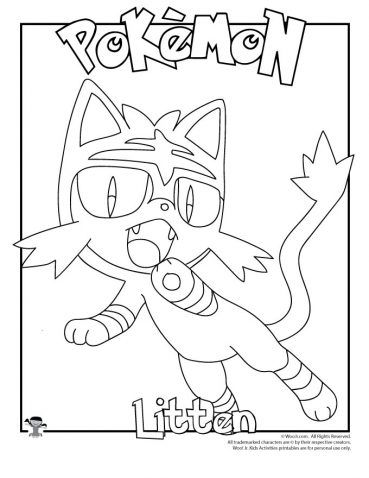Litten Coloring Page Pokemon Coloring Pages Cute Coloring Pages