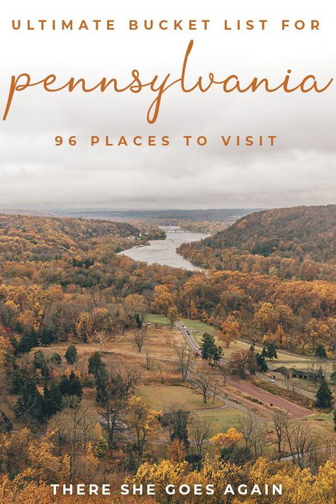 Pennsylvania Bucket List: 96 Places to Visit Places In Usa, Oh The Places You'll Go, Cool Places To Visit, Beautiful Places To Travel, Best Places To Travel, Travel Things, Camping In Pennsylvania, Pennsylvania Dutch, New York City