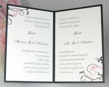 Affordable Bilingual Wedding Invitations Invitationpie