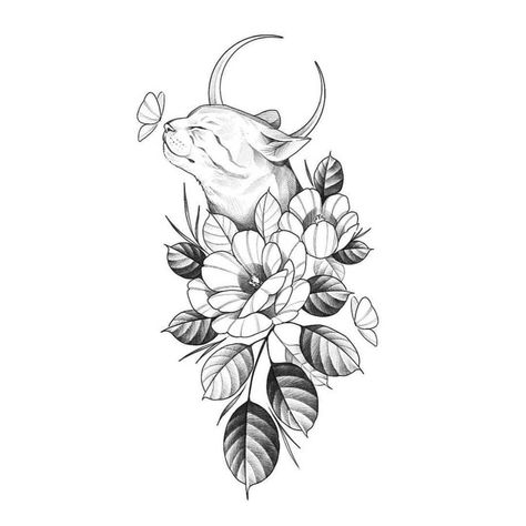 tattoo designs drawings \ tattoo designs & tattoo designs men & tattoo designs for women & tattoo designs unique & tattoo designs men forearm & tattoo designs men sleeve & tattoo designs drawings & tattoo designs men arm Cat Tattoo Designs, Unique Tattoo Designs, Tattoo Design Drawings, Tattoo Sleeve Designs, Unique Tattoos, Beautiful Tattoos, Small Tattoos, Vintage Tattoo Design, Henna Designs Drawing