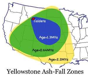 Biggest Volcano Under Yellowstone Where It Would Go If Erupted - Calderas in the us map