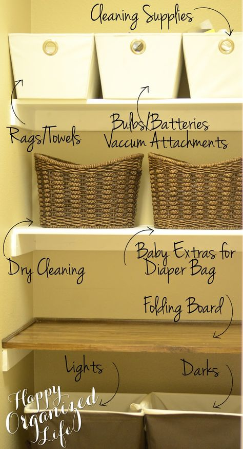 Is your #laundry room overwhelmed with clutter? Learn how to make it more organized with #baskets and #bins!