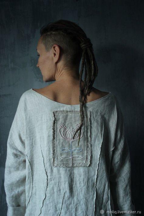 f9f2717be8210 Платья ручной работы. Ярмарка Мастеров - ручная работа. Купить Льняное  платье.Английское серое с цветком. Handmade. Платье