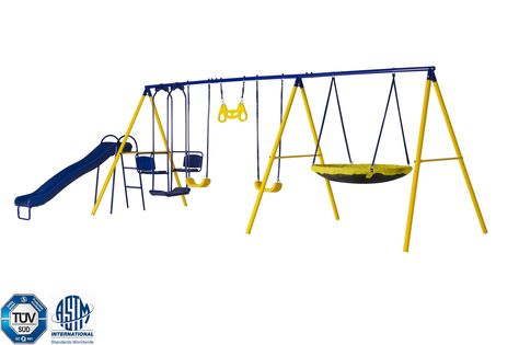 Jump Power 8 Station Swing Set Astm Safety Approved Pinterest