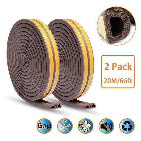 隙間テープ Keliiyo すきまテープ 戸当たり 窓 ドア サッシ 引き戸用 防音 防風 防虫 冷暖房効率アップ D型 2 5m 2本