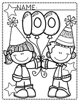 Simple Print Out For The 100th Day Of School I Plan On Printing