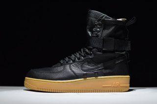 buy online 29762 037e6 Mens Womens Nike Special Field Air Force 1 SF AF1 Black Gum Light Brown  859202 009 Running Shoes   Nike Air Force Running Shoes   Nike air force,  ...
