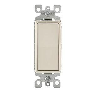 Leviton 5601 2t 120 277 Volt Ac 15 Amp 1 Pole Residential Grade Rocker Ac Quiet Switch Light Almond Decora Reg Leviton Decora Rocker