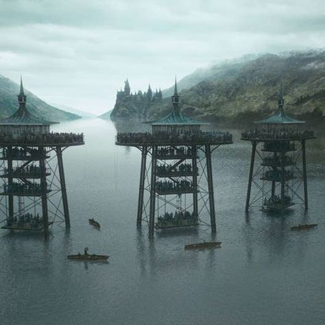 Loch Shiel was transformed for some of the Triwizard Tournament scenes in Harry Potter and the Goblet of Fire. Harry Potter Goblet, Harry Potter Room, Harry Potter Movies, Harry Potter World, Hogwarts, Harry Potter Pictures, Slytherin Aesthetic, Goblet Of Fire, Harry Potter Wallpaper