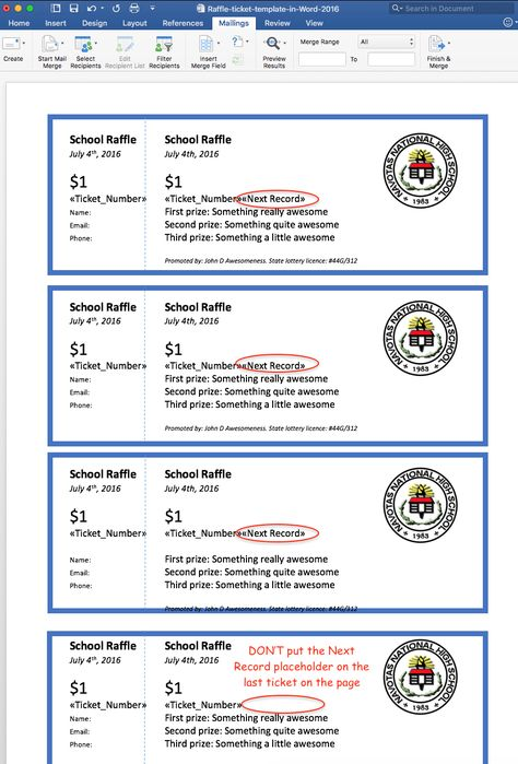 Raffle Ticket Sample  Fundraisers    Raffle Tickets