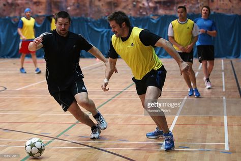 Dane Coles and Richie McCaw of the All Blacks take part in a recovery session at the Imperial College on November 2012 in London, England. Get premium, high resolution news photos at Getty Images