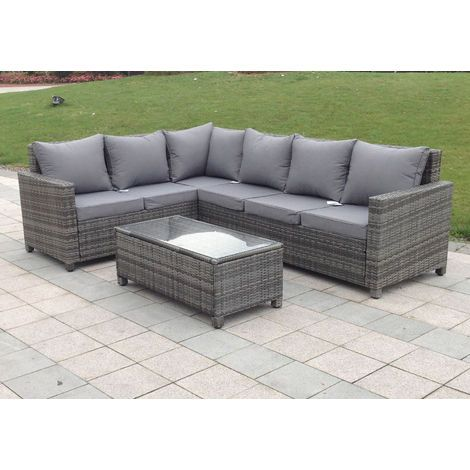 Rattan Outdoor Corner Sofa Set Garden Furniture In Grey Bssa11gry Corner Sofa Set Corner Sofa Sofa Set
