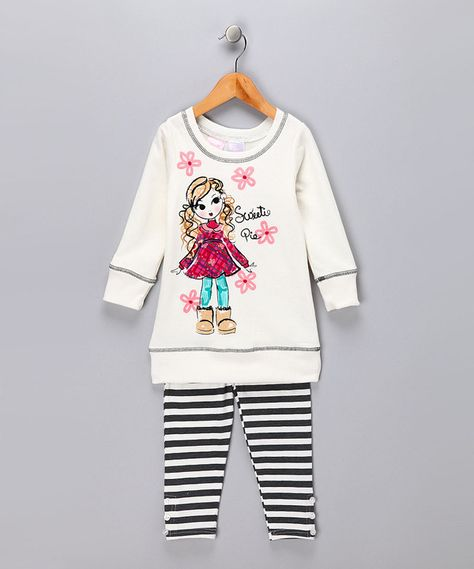 1fe1843b1 Take a look at this Rose Stripe Organic Caltie Tee - Infant by Nui ...