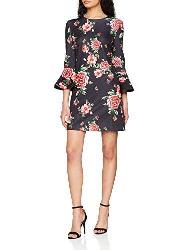 24a0193d6891 Guess Women's Lucy Dress White (Roses Boulavard Black Combo PU98 ...