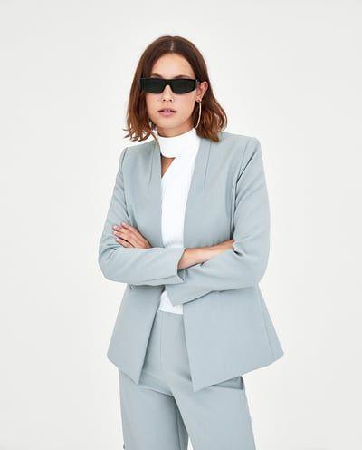 Blazer With No Lapels Blazers Woman Zara United States Blazer Lapel Blazer Fashion