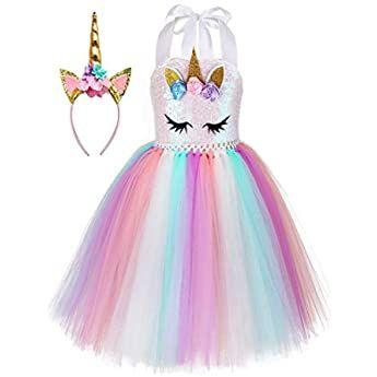Hnxdyy Vestido De Princesa Para Niña Tallas 4 9 Años 3 4t Clothing Disfraz De Unicornio Vestidos De Cumpleaños Para Niñas Traje De Unicornio