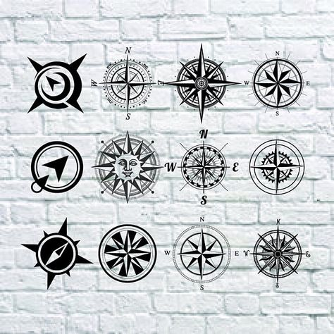 12 Compass SVG Bundle Direction SVG Navigate ClipartCut