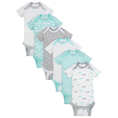 Essentials Unisex Baby 6-Pack Lap-Shoulder Tee