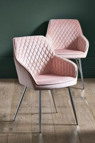 Buy Set Of 2 Hamilton Arm Dining Chairs With Chrome Legs From The Next Uk Online Shop Pink Dining Chairs Pink Dining Rooms Wayfair Living Room Chairs