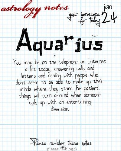 free aquarius horoscope tomorrow
