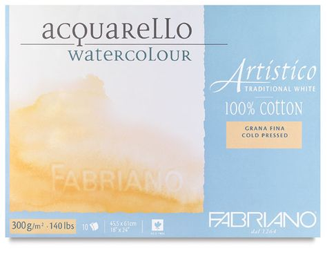 Fabriano Artistico Traditional White Watercolor Blocks Best