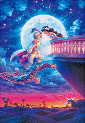 D 1000 042 Tenyo Disney Princess Jasmine Aladdin Moonlight Romance Giftsonlinetoday Com Disney Paintings Disney Princess Wallpaper Disney Princess Jasmine