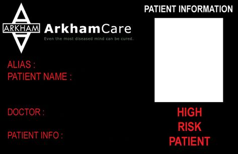 1 5} Welcome to Arkham Asylum, if youu0027re reading this, you either - blank id card template