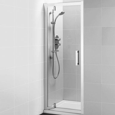 Alcove Shower Pivot Door 1000mm Small Shower Remodel Shower Doors Shower Remodel Diy