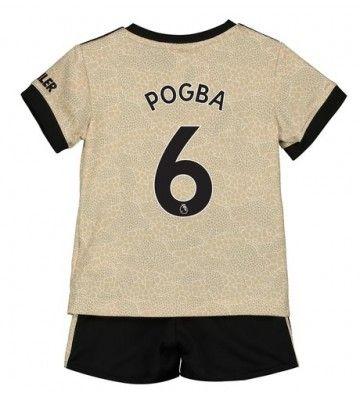 Billiga Manchester United Paul Pogba 6 Bortastall Barn 2019 20 Kortarmad Korta Byxor Mens Tops T Shirts For Women Manchester United
