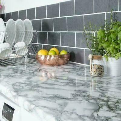 White Marble Kitchen Vinyl Wrap